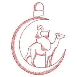 Redwork Christmas Nativity embroidery design