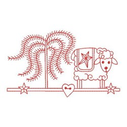 Redwork Country Border embroidery design