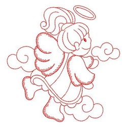 Redwork Little Angel embroidery design