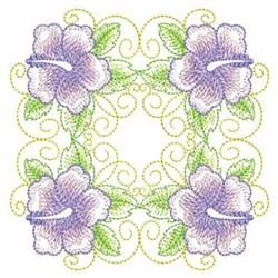 Hibiscus Quilt Block embroidery design