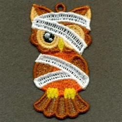 FSL Owl Halloween Hanger embroidery design