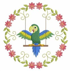 Swinging Parrot embroidery design