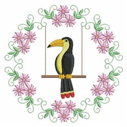 Swinging Crow embroidery design