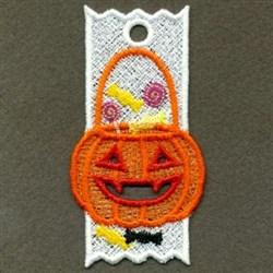 FSL Pumpkin Ring Halloween Hanger embroidery design