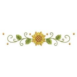 Sunflower Border embroidery design