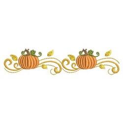 Autumn Pumpkin Border embroidery design