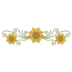 Sunflower Swirl Border embroidery design