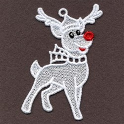 FSL Reindeer White Christmas embroidery design