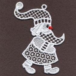 FSL Santa Hat White Christmas embroidery design