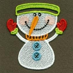 FSL Christmas Snowman Napkin Ring embroidery design