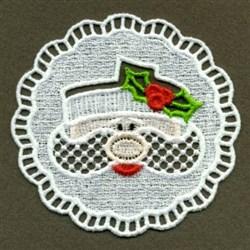 FSL Christmas Holly Napkin embroidery design