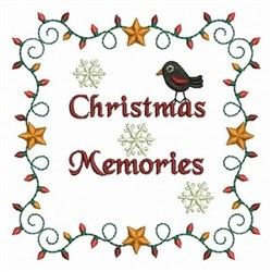 Christmas Bird Banner embroidery design
