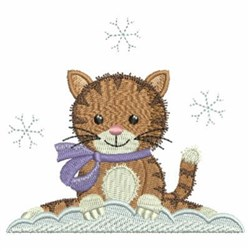 Christmas Cat With Crystals embroidery design