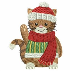 Christmas Cheerful Cat embroidery design