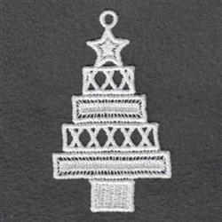 FSL White Christmas Hanger embroidery design