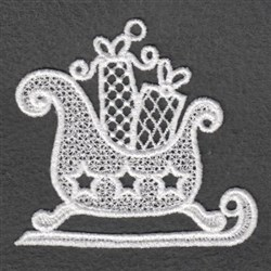 FSL Sleigh White Christmas embroidery design