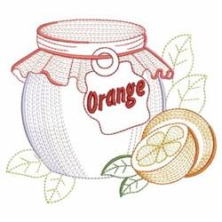 Vintage Orange Jar embroidery design
