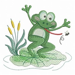 Little Froggie Dancing embroidery design