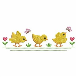 Spring Chick Border embroidery design