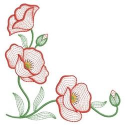 Beautiful Poppy embroidery design