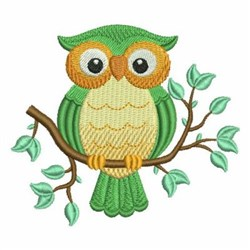 Owl In Branch embroidery design
