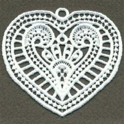 FSL White Heart embroidery design