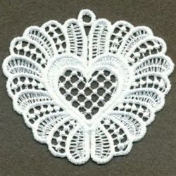 FSL Sweet Heart Love Ornament embroidery design