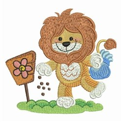 Lion Plant Seeds embroidery design
