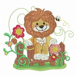 Bumble Bee Lion embroidery design