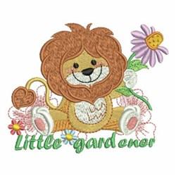 Little Gardener Lion embroidery design