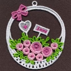FSL Roses Basket embroidery design