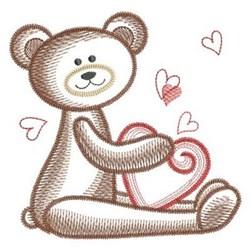 Heart Teddy Bear embroidery design