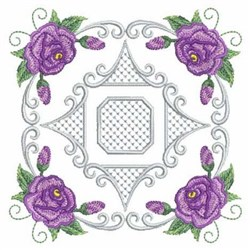 Quilted Roses embroidery design