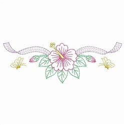 Butterfly Hibiscus embroidery design