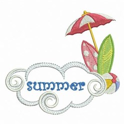 Summer Surf embroidery design