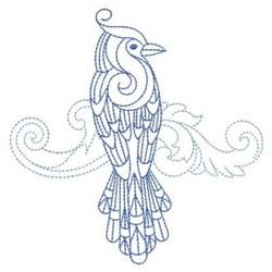 Baroque Bird embroidery design
