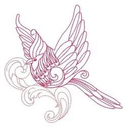 Baroque Cardinal embroidery design