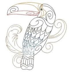 Baroque Toucan embroidery design