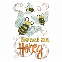 Sweet As Honey Bees embroidery design