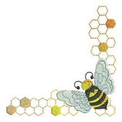 Bee Corner embroidery design