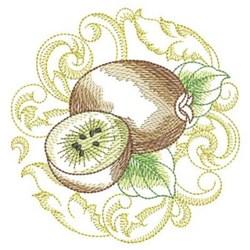 Baroque Kiwi embroidery design