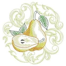 Baroque Pear embroidery design