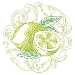 Baroque Lemon embroidery design