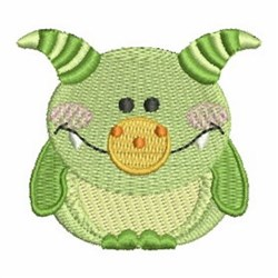 Green Monster embroidery design