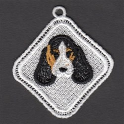 FSL Basset Hound embroidery design