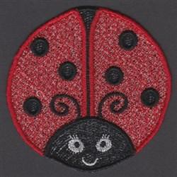 FSL Ladybug Mug Rug embroidery design