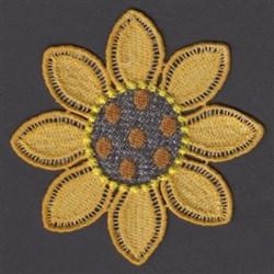 FSL Sunflower Mug Rug embroidery design