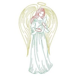 Mandolin Angel embroidery design