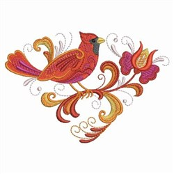 Rosemaling Cardinal Triangle embroidery design