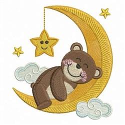 Good Night Bear embroidery design